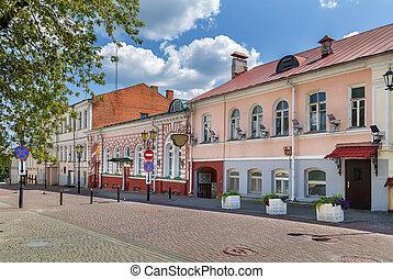 Street in Vitebsk, Belarus - Street with historical houses ...