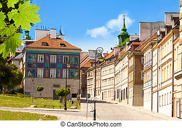 Street in Warsaw old town