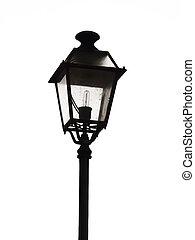 Street Lamp - An ornate street lamp made of wrought iron.