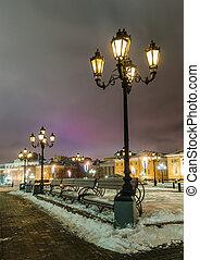 street lamp and Manezhnaya square