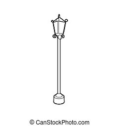 Street lamp icon, outline style