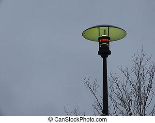 Street lamp in evening