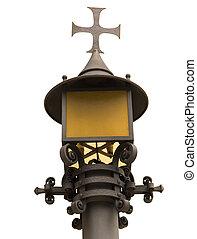 Street-lamp in Montserrat (Spain) near of monastery
