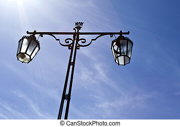Street Lamp in Setubal, Portugal