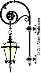 Italian wrought iron wall street lamp