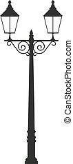street lamp light vector outline