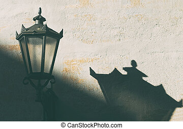 Street lamp on the wall