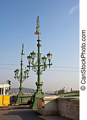 Street lamps in Budapest