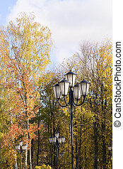 Street lamps in the park