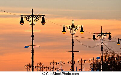 Street lamps of Brighton Beach