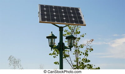 Street lamps with solar batteries - Beautiful street lamp...