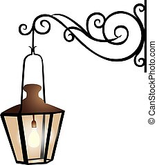Street lantern illustration - Illustration of a street ...