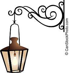 Street lantern illustration - Illustration of a street...