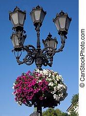 street lantern in Lviv, Ukraine