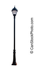 Street light - Isolated with clipping path - Decorative ...