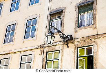 Street Light on Old Apartments
