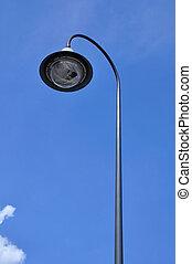 Street light pole with the blue sky