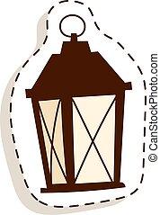 Street light vector illustration.