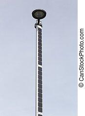Street light with solar panels