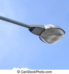 street lighting on day on sky background