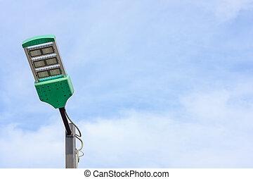 Street lighting or spotlight lamp
