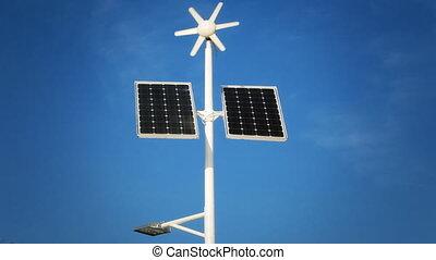 Street lighting with solar panels