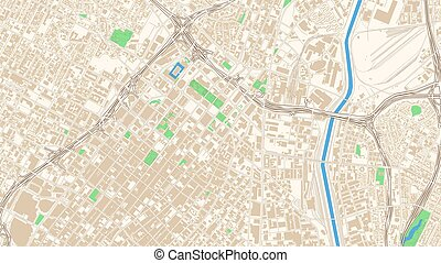 Street map of Los Angeles, California