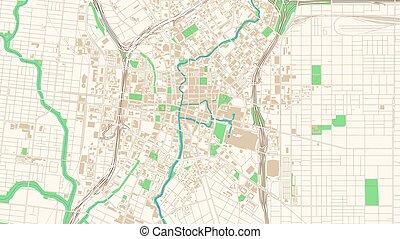 Street map of San Antonio, Texas