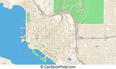 Street map of San Diego, California