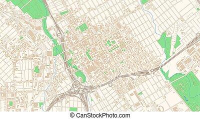Street map of San Jose, California