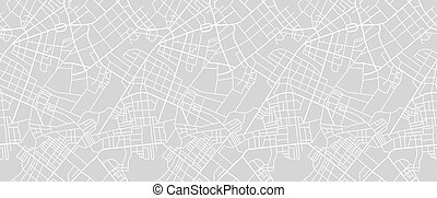 Street map of town - Editable vector street map of town as ...