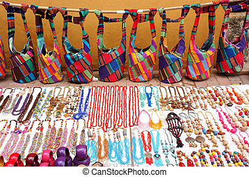 Street market - Bags and jewelry