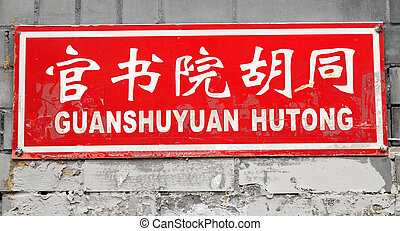 street name of the chinese alley in Beijing : Guanshuyuan Hutong