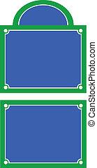 Street name plate - Parisian style street sign vector...