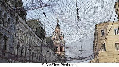 Street Nikolskaya view up - RUSSIA, MOSCOW - October 08:...