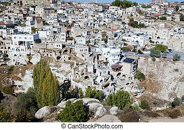 Street of ancient Ortahisar, Cappadocia