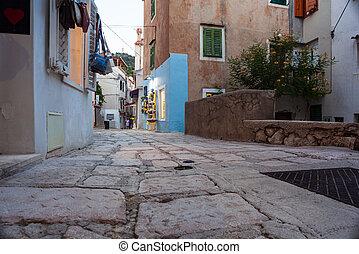 Street of Baska, Croatia