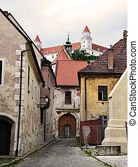 Street of Bratislava old town.