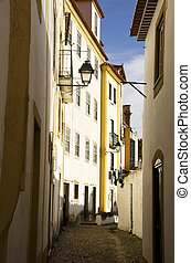 Street of Constancia, village in Ribatejo, Portugal