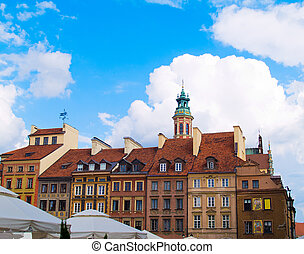 street of old town, Warsaw, Poland