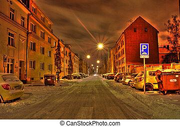 street of Ostrava, Czech republic (HDR)
