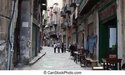 Street of Palermo in Italy