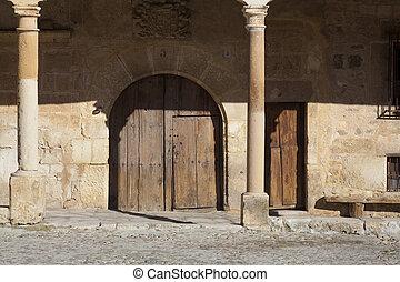 Street of Pedraza, Segovia, Castilla y Leon, Spain