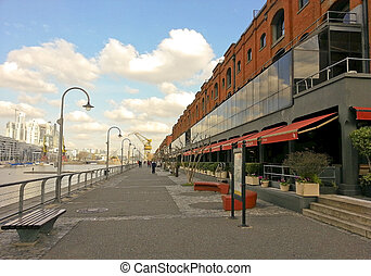 Street of Puerto Madero in Buenos Aires