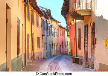 Street of Serralunga D'Alba. Piedmont, Italy.