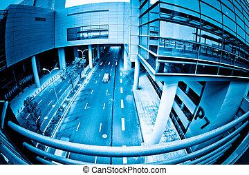 street of shanghai airport.
