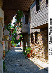 Street of the old town. Nessebar. Bulgaria.