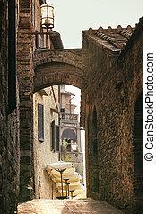 street old town San Gimignano