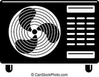 Street part air conditioner icon, simple style - Street part...