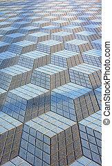 Street paving design - Urban street paving cubic texture ...